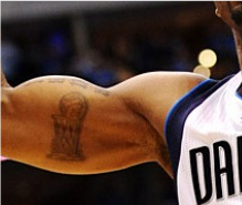 Jason Terry's Championship Tropy Tattoo