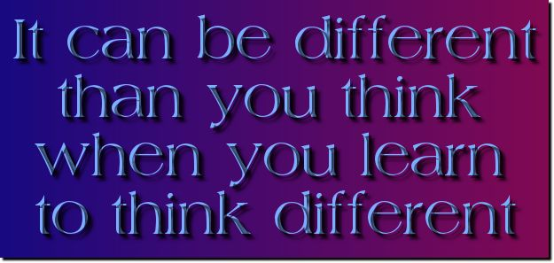 learn to think different