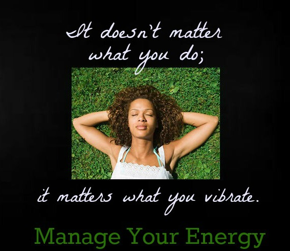 Manage Your Energy