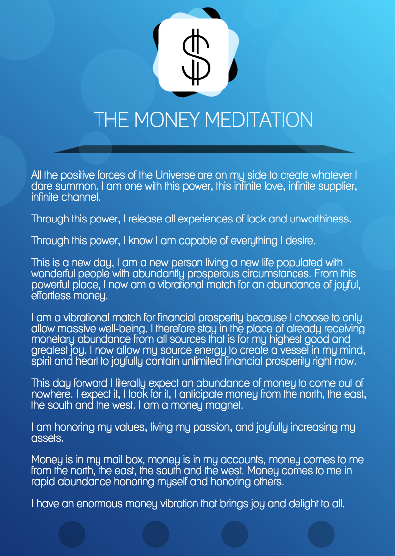 The Money Meditation For Manifesting Financial Abundance