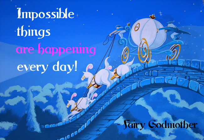 Impossible things are happening every day!