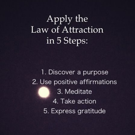 Law of Attraction in 5 Steps