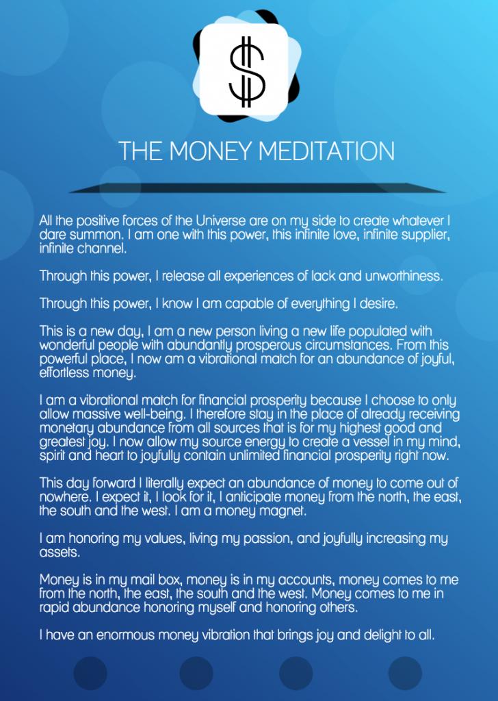 The Money Meditation